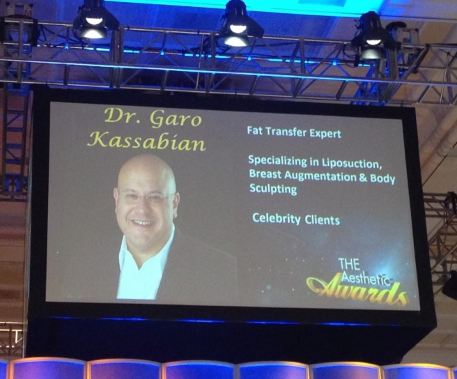 Dr. Garo Kassabian as a Featured Judge at the Aesthetic Awards.